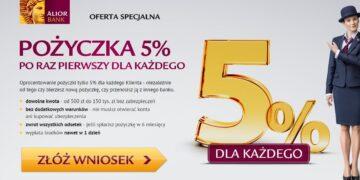 Pożyczka 5% w Alior Banku